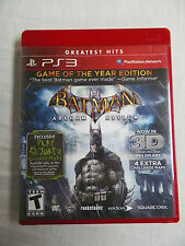 Batman: Arkham Asylum -- Game of the Year Edition (Sony PlayStation 3, 2010)