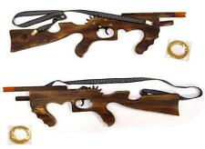 2 SOLID WOOD ELASTIC SHOOTING 21 in MACHINE GUN rubber band shooter toy RIFLE