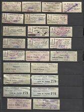 8522-COLECCION SELLOS LA PREVISION OBRERA SIN CATALOGAR DE 1933 A 1954 COMPLETO+