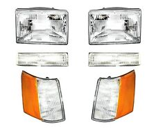 Headlights Headlamp & Parking Corner Lights Left & Right 97-98 Grand Cherokee