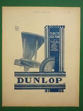 4/1929 PUB DUNLOP AEROPLANE TRINGLES CREUSE DIDIER HARDY / BREGUET XIX COSTES AD