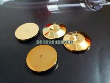 4Pc 25MM HIFI SPIKES Gold Stand Base CD Amp Speaker Spike Isolation Feet PAD