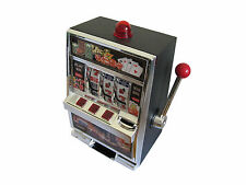 SLOT MACHINE Piggy bank savings toy money game tokens pokies Gambling gift