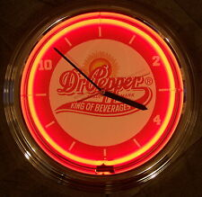 Neon Clock sign Retro Dr. Pepper Dr Soda fountain pop Garage Man cave