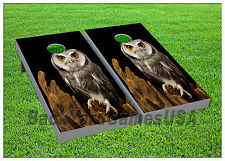 Wise Wild Owl CORNHOLE BEANBAG TOSS GAME w Bags Game Boards Set 1070