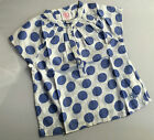 NEW Girls Spotty Spotted Blue White Summer Blouse Top Fast Free Post 2-8 years