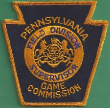 Pa Pennsylvania Game Commission NEW Field Division Supervisor Uniform Patch