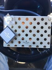 kate spade new york Pencil Pouch - Gold Dots by kate spade new york NEW BRAND