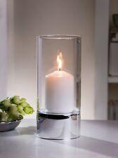 Windlicht silber Glas schlicht elegant Kerzenhalter Kerzenglas Kerzenständer