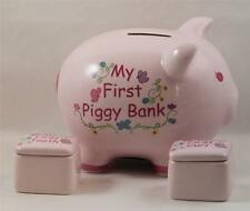 Piggy Bank Photo Keepsake Box Pink 1st Tooth & Curl Lidded Boxes