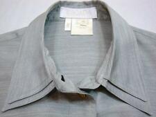 ESCADA GERMANY Gray Silk Long Sleeve Shirt Eu 40 = US 10