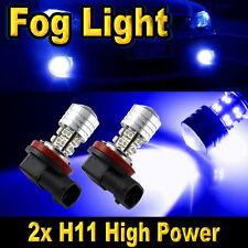 2x H11 20-SMD LED Bulbs Car Driving Fog Lights Blue High Power Projector