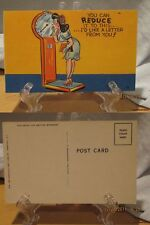 1940's Linen Comic Color PC#88-You Can Reduce It To This-I'd Like A Letter-#363