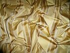 KRAVET COUTURE SATIN STRIPES SILK FABRIC REMNANT HONEY GOLD AMBER