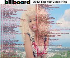 Promo Video DVDs, Billboard 2012 Hot 100 Videos Only 2 DVDs! 100 Videos 2 x DVDs