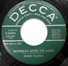 KENNY RANKIN 45 Saturday After the Game / I'll Be Waitin' DECCA 1957 PROMO #A218