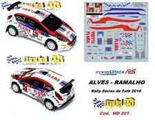 DECAL  1/43 -  FORD  FIESTA R5  -  ALVES - Rally Serras de Fafe  2016