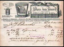 1901 B Payns Sons Tobacco Co - Cigars Snuff - Albany NY Vintage Letter Head Rare