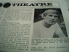ephemera 1969 leicester theatre christopher timothy here we go round the mulberr