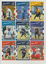 2016 DONRUSS FOOTBALL Complete SHORT PRINT ROOKIE 50 card set #301-350 Cowboys!!