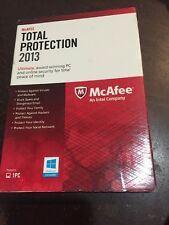 NEW McAfee Total Protection 1 PC 2013 - FREE SHIPPING