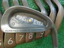 USED PING EYE 2+ GOLD DOT BERYLLIUM COPPER IRONS 4-SW ZZ-LITE STIFF FLEX STEEL