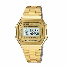 Casio's classic retro watch in gold luminance Alarm Chrono Digital A168WG-9WDF …