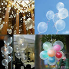 "New Latex Helium Balloons Ballons 20-100X10"" Party Wedding Birthday Transparent"