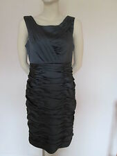 House of Frazer designer MARC NEW YORK Smoke Grey Satin Ball Evening Dress Siz12