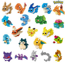 Nano Block Pokemon Diamond Mini Building Blocks Toys Pocket Monster 21 Model New