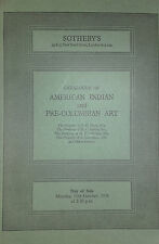 1976 Catalogue de Vente SOTHEBY'S AMERICAN INDIAN AND PRE COLUMBIAN ART