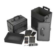 Abody 2 in 1 Aluminum Rolling Makeup Train Case Jewelry Storage Box W3X5