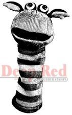 Deep Red Rubber Stamp Sock Puppet Hand