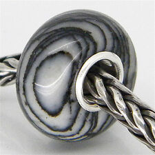 STONE JASPER BEAD AUTHENTIC 925 STERLING SILVER FIT EUROPEAN CHARM BEADS 3105