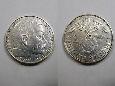3. Reich , 2 Reichsmark 1936 E ss-vz , Jäger 366 , # 01