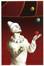Juggling Clown, Circus Performer, Pantomime, Hat, Balls etc. --- Modern Postcard
