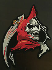 Grim reaper patch écusson 22x16,5cm - Faucheuse Blouson MC BIKER CHOPPER