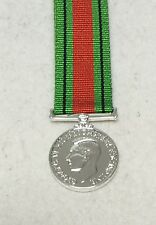 1939 - 1945 Defence Medal, Miniature, GV1R, George VI, WW2, Army, Military, New