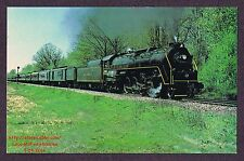 LMH Postcard 1977 ALLEGHENY  4-8-4 Northern #2102  ERIE LIMITED  Passenger Train
