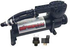 Air Bag Suspension Air Compressor 580C Black 180psi Off Pressure Switch & Relay