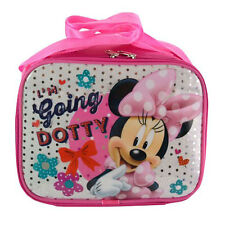 DISNEY MINNIE MOUSE Insulated Sequin Underlay Girls Cooler Lunch Bag with Strap