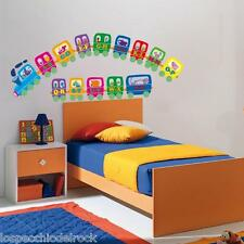 Treno con Alfabeto Train with alphabet [ Adesivi Murali Wall Stickers ] KID211