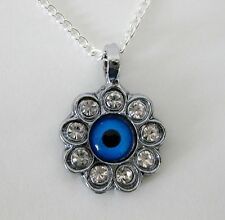 NEW GOOD LUCK EVIL,LUCKY EYE BONCUK  NECKLACE.GREEK MATI TURKISH NAZAR. ref 32