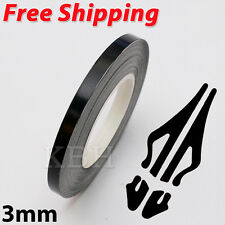 "3mm 1/8"" Pin Stripe Pinstriping Soild Line Tape Vinyl Decal Sticker Car Black"