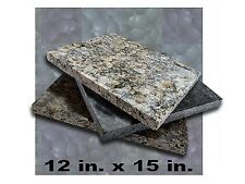 """Granite Marble Slab Cutting Board, Leather Craft Surface 12"""" x 15"""" x 1-1/4"""""""