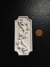 """MN17a Rose Flora Wall Panel 4.5x2 1/8"""" Plaster RepliCast Miniatures -Dolls House"""