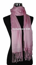 Handmade 100% 2-Ply Pashmina Cashmere Bridal Scarf Shawl Wrap XL Baby Pink Solid