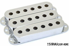 NEW Chrome Stratocaster PICKUP COVER SET Covers Fender Strat Single Coil
