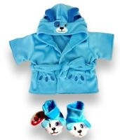 Teddy Bear Clothes fit Build a Bear Teddies Clothing Blue Puppy Robe & Slippers