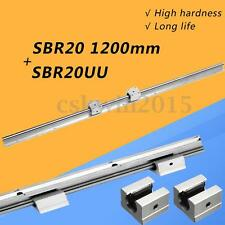 Support Linear Rail SBR20-1200mm Optical Axis Guide+2 SBR20UU Bearing Blocks CNC